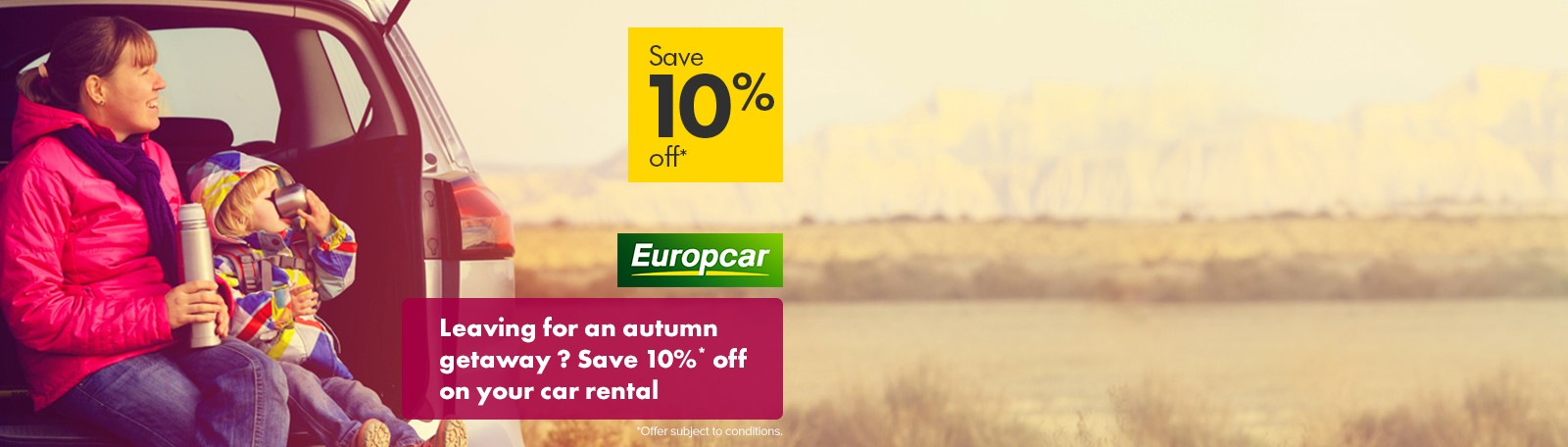 Europcar winter offer 10% discount